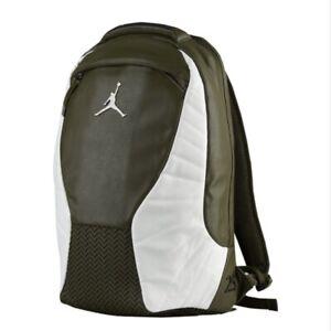Nike Air Jordan Retro 12 School Casual Backpack Laptop White Olive 9A1773 X34