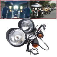 2x Motorrad Universal Roller Zusatzscheinwerfer Nebelscheinwerfer mit Blinker