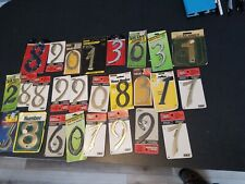 "vintage lot of 26 NOS 4"" house numbers brass, plastic aluminum"