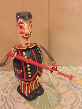 Vintage Paya Clockwork Street Sweeper Tin Litho Wind Up Toy Made Spain