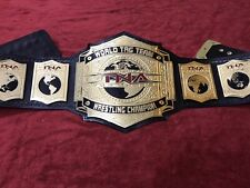 TNA WORLD TAG TEAM BELT IN 4MM ZINC DEEP ETCHING & 24KT GOLD PLATED FREE SHIPPIN