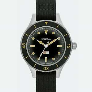 Bulova Archive Series Limited Edition Watch 98a265 Domed Sapphire Crystal
