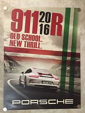 """2016 Porsche 911 R """"Old School"""" Showroom Advertising Sales Poster RARE!! Awesome"""