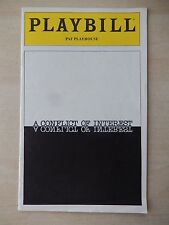 December 1979 - PAF Playhouse Theatre Playbill - A Conflict Of Interest - Casey