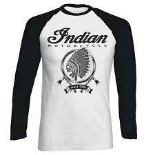 Indian Since 1901 Biker Vintage Motorcycle Men Baseball T-shirt