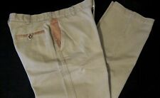 Orvis Zambezi Men Leather Trim Khaki Rugged Hunting/Hiking Pants 34x31 (36 Tag)