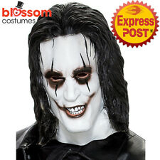 AC400 Don Post The Crow Costume Latex Face Mask Halloween Scary Horror Zombie