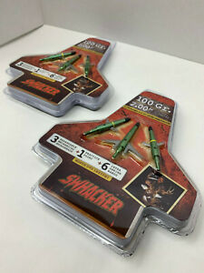 """2 packages Swhacker Mechanical Broadheads Expandable 100 Grain 2"""" Cut"""