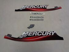MERCURY DECAL SET ( 5 ) RED / BLACK / SILVER AND WHITE MARINE BOAT