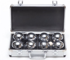 Garden Games Boules in a Metal Carry Case - 4 Player Premium Set With Steel