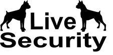 2 x Live Security Boxer Hund Aufkleber 10x5 Auto Tuning Bodyguard Vorsicht (30)