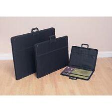 A1 A2 & A3 Art Portfolio Folder Carry Case Set in Rigid Faux Leather & Fabric