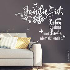 Wandtattoo Spruch Familie ist... Liebe Zitate Zuhause Wandaufkleber Deko ws12c