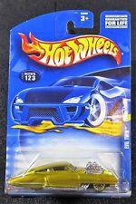 2002  Hot Wheels  Gold Evil Twin   Card #123   Cadillac   HW-28