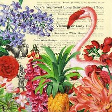 4x Paper Napkins -Tropical Garden- for Party, Decoupage