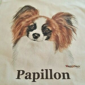 PAPILLON DOG TOTE SHOPPER REUSABLE BAG BY WAGGY DOGZ FAST DISPATCH