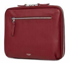 """Knomo Mayfair Leather Knomad Tech Organiser 10.5"""" Tablet/Accessory Bag -Burgundy"""