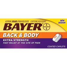 Bayer Back & Body Extra Strength Aspirin w/ Caffeine 500 mg 100 Coated Caplets