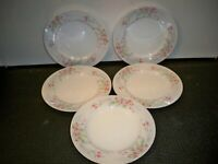 5  MIKASA FINE CHINA ''FERN ROSE L2005 SALAD PLATES 7 3/4''