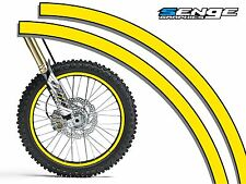 Dirt Bike Rim Protector Decal Kit for 19 and 21 inch Wheels Design #1921GRN