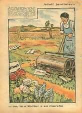 WWII Caricature anti-Hitler Anschluss Austria Poland  War 1940 ILLUSTRATION