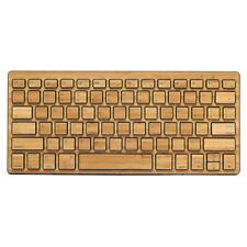 IMPECCA Compact Bluetooth Wireless Bamboo Keyboard, Black