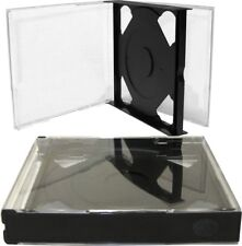 (5) CD2R24DGNT 2 Disc Capacity CD Jewel Boxes Cases 24mm Double Chubby Dark Gray
