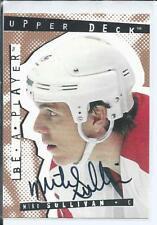 Mike Sullivan  Pittsburgh Penguins  94/95  UD Be A Player  #75  Autograph