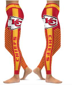 Kansas City Chiefs Small to 2X-Large Women's Leggings New