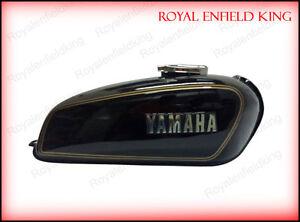 Yamaha RX100 RX125 Black Petrol Fuel Gas Tank With Chrome LID Cap & Tap