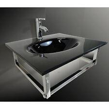 Pedestal Combo Bathroom vanity Sink in Clear combo set 2031