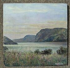 fine art o/b Hudson river landscape painting signed Robert Hamblen