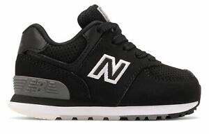 New Balance Infant 574 Shoes Black with White