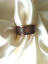 Solid Copper Southwestern Motif Vintage Cuff Bracelet
