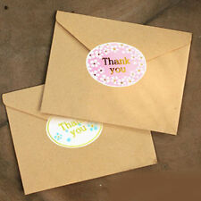 120X Novelty Golden Thank You Seals Craft Packaging Sealing Sticker Label Gift