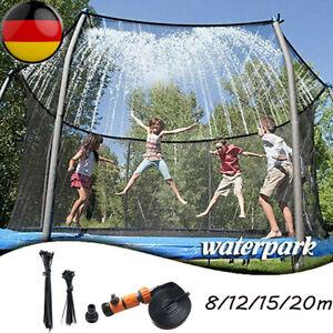 8-20M Trampolin Sprinkler Wassersprinkler Outdoor Sprühschlauch Wasser Spielzeug