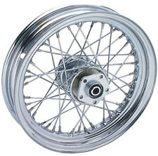 "V-Twin Chrome 16"" X 3"" 40 Spoke Rear Wheel Rim Harley Softail Dyna Sportster FXR"