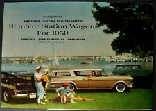 1959 Rambler Station Wagon Brochure Rebel Ambassador American Excellent Original