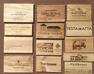 Wood Wine Box 13 Panel lot Crate lids & ends NAPA French. Cellar Wall