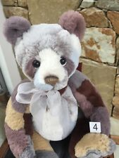 Raggle - collectable jointed plush teddy by Charlie Bears - CB181830A
