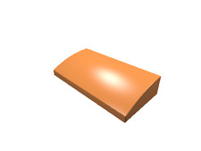 5 x [neu] LEGO Dachstein bogenförmig 2 x 4 x 2/3 ohne Noppen - orange - 88930