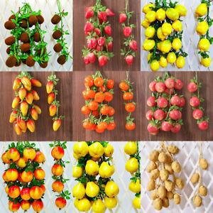 Artificial Fruit Grape Food Lifelike Fake Vegetable Plant Home Office PartyDecor