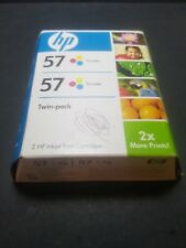 Twin-pack Genuine HP 57 Color Ink PSC 2510 2410 2210 2175 2110 1350 1311 Sealed