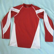 Youth BCG Academy Long Sleeve Shirt Size Youth S/M, Red & White