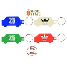 Custom Car Shape Key Tag Imprinted With Your Logo / School Name / Text 100 Qty
