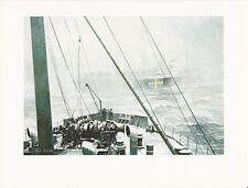 "1976 Marine Color Plate ""Rendezvous South Atlantic"" Chris Mayger WAR SHIP PRINT"