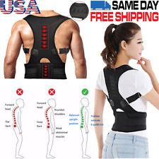 Adjustable Support Correction Lumbar Back Shoulder Brace Belt Posture Corrector