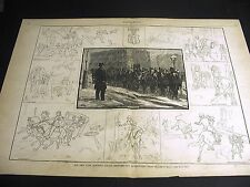 James E. Kelly NEW YORK MOUNTED POLICE Wiilliam Revell 1881 Large Folio Print