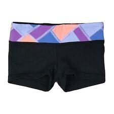 Ivivva Rhythmic Reversible Shorts Girls Size 6 Black