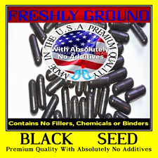 BLACK SEED With Absolutely No Additives Raw Hi Potency 100 Vegetarian Capsules